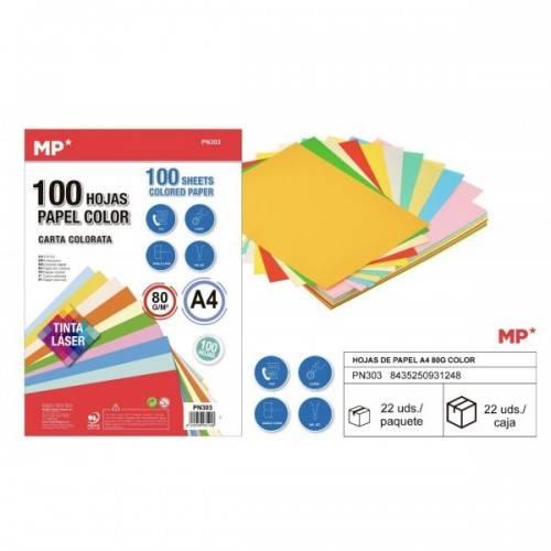 100Folios colores A4 80G