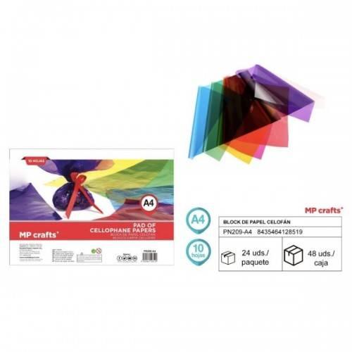 Papel celofán A4 10colores