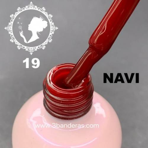 19 GRANATE OSCURO Esmalte NAVI 12ml