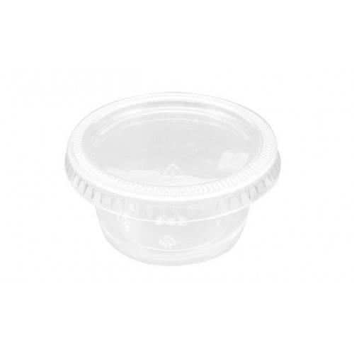 10 Salsera de Plástico C/Tapa 60cc